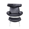 Fine Mod Imports Big Lounge Chair and Ottoman Set