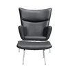 Fine Mod Imports Wing Lounge Chair and Ottoman Set