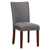HomePop Parsons Chevron Side Chair (Set of 2)