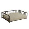 HomePop Casual Decorative Metal Dog Bed