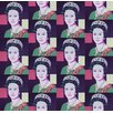 "Flavor Paper Queen Elizabeth Andy Warhol 21' x 24"" Figural Wallpaper (Set of 3)"