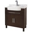 "American Imaginations 33"" Single Transitional Birchwood-Veneer Bathroom Vanity Set"