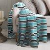 Maison Condelle Lauren Taylor Stripe Printed Microfleece Blanket