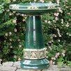 Burley Clay Zanesville Birdbath - Color: Green - Birds Choice Bird Baths
