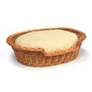 Prestige Wicker Pet Basket with Super Soft Cushion in Brown