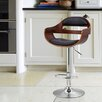Adeco Trading Adjustable Height Swivel Bar Stool with Cushion