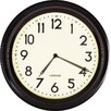 """Adeco Trading 12"""" Basic Round Large Numbers Office Kitchen Wall Hanging Clock"""