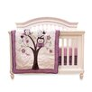 Baby's First by Nemcor Plum Owl Meadow 4 Piece Crib Bedding Set