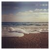 3 Panel Photo Sea Foam and Sand by Dirka Photographic Print on Wrapped Canvas