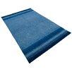Parwis Handgeknüpfter Teppich Indo Gabbeh Chenar in Blau