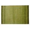 Parwis Handgeknüpfter Teppich Indo Gabbeh Chenar in Grün