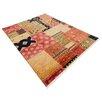 Parwis Handgeknüpfter Teppich Ferrara Patch in Rot
