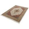 Parwis Handgeknüpfter Teppich Indo Royal Bidjar in Creme