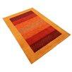 Parwis Handgeknüpfter Teppich Indo Gabbeh Aria in Rot