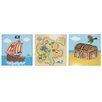 Fantasy Fields by Teamson Pirate 3 Piece Graphic Art Unwrapped on Canvas Set