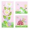 Fantasy Fields by Teamson Magic Garden 3 Piece Graphic Art Unwrapped on Canvas Set