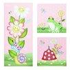 Fantasy Fields by Teamson 3-tlg. Leinwandbilder-Set Magic Garden, Grafikdruck