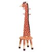 Teamson Kids Giraffe High Backed Coat Rack with Stool
