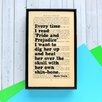 "Bookishly ""Every Time I Read..."" by Mark Twain Framed Typography"