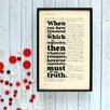"""Bookishly """"The Truth"""" from Sherlock Holmes by Arthur Conan Doyle Framed Typography"""