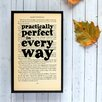 Bookishly Practically Perfect... from Mary Poppins by P. L. Travers Framed Typography