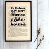 "Bookishly ""Gigantic Hound...""  from Sherlock Holmes by Arthur Conan Doyle Framed Typography"