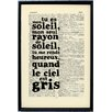 Bookishly Tu Es Mon Soleil Framed Typography