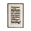 Bookishly Welcome to My House... from Dracula by Bram Stoker Framed Typography