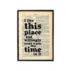 Bookishly I Like This Place... by Shakespeare Typography Plaque