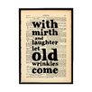 "Bookishly ""Mirth and Laughter..."" by William Shakespeare Framed Typography"