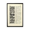 "Bookishly ""Tea and Buns"" by Kenneth Grahame Framed Typography"