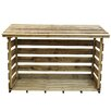 Forest Garden 6 Ft. W x 3 Ft. D Wooden Log Store