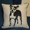 Curtain Chic Faithful Companions Chihuahua Dog Pillow Cover