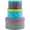 Beau & Elliot Confetti Outline Set of 3 Round Nesting Tins