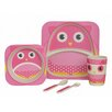 My Little Lunch Owl Bamboo 5 Piece Dinnerware Set