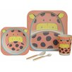My Little Lunch Giraffe Bamboo 5 Piece Dinnerware Set