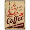 Carrick Design Endless Coffee Rustic Wood Sign Wall Décor