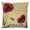 BelgianTapestries Flanders Fields Poppies Cushion Cover