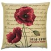 BelgianTapestries Flanders Fields Poppies ICushion Cover
