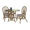 Natural Cane Dining Table and 2 Chairs