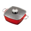 king 28 cm x 28 cm Non Stick Casserole Dish with Lid