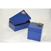 Bodhi Tree Collections Cube and Rectangular Box Set with Crab