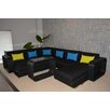 Wicked Wicker Furniture Modern Comfort 5 Piece Seating Group with Cushions
