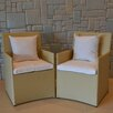 Wicked Wicker Furniture Wicker Chairs with Cushions (Set of 4)