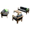 Harmonia Living Ando 4 Piece Deep Seating Group with Cushions