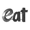 "Rustic Arrow ""Eat"" Sign with Rebar Décor"