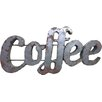 Rustic Arrow Coffee Sign with Rebar Wall Décor