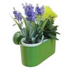 Push 'N Stay Oval Suction Window Box Planter - Color: Green - Wall Mates Planters