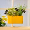 Push 'N Stay Oval Suction Window Box Planter - Color: Yellow - Wall Mates Planters