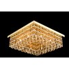 Electric City 8 Light Semi-Flush Ceiling Light